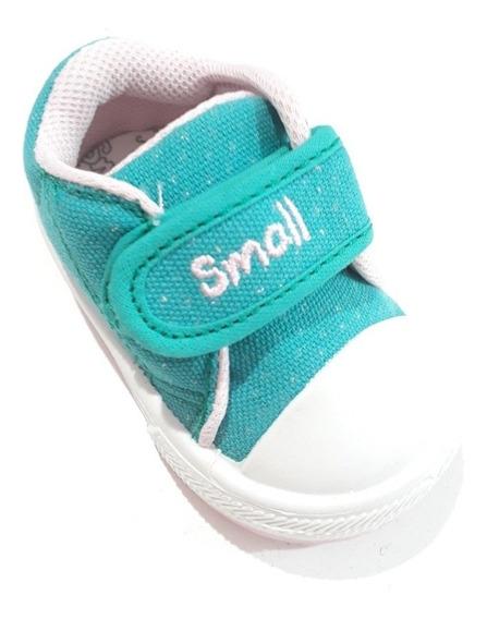 Zapatillas Small Nuevas Con Abrojo 17/21 Brillos Nenas