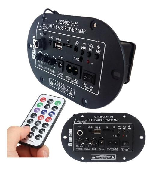 Placa Amplificada Decodificador Mp3/ 50w Usb Bluetooth-top