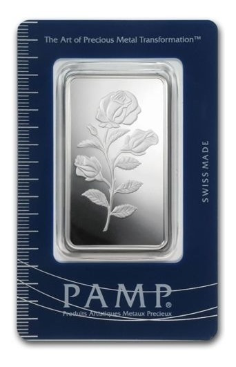 Robmar-pamp-1 Onza De Plata Suiza-0,999-la Flor-certificada
