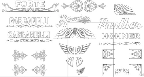 Imagen 1 de 2 de Vectores Para Sticker ,gabbanelli ,hohner