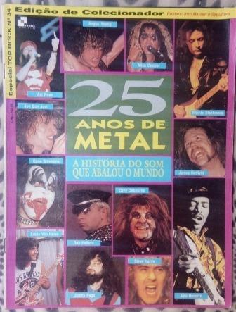 Revista - Top Rock 25 Anos De Metal