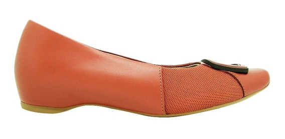 Sapato Usaflex Ad0203 Couro Salto Embutido Joanete Conforto