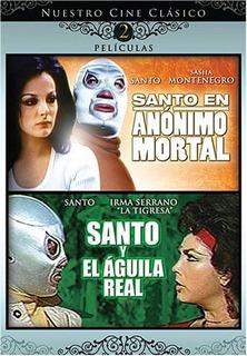 Dvd 2 Peliculas El Santo, Anonimo Y Aguila Real [original]
