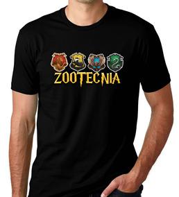 Camiseta Preta Universitaria Curso Zootecnia Harry Potter 8