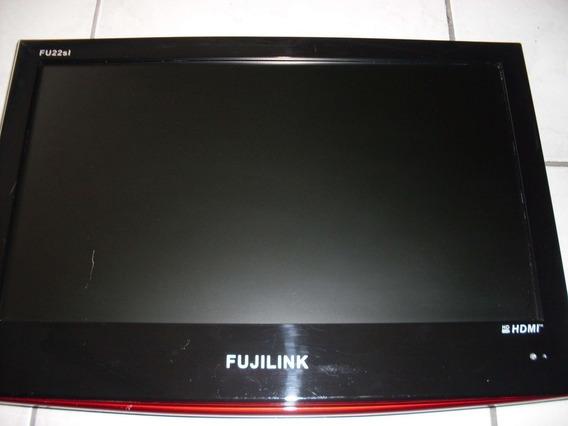 Monitor Tv Fujilink 22 Fu22sl Com Defeito Sem Base/controle
