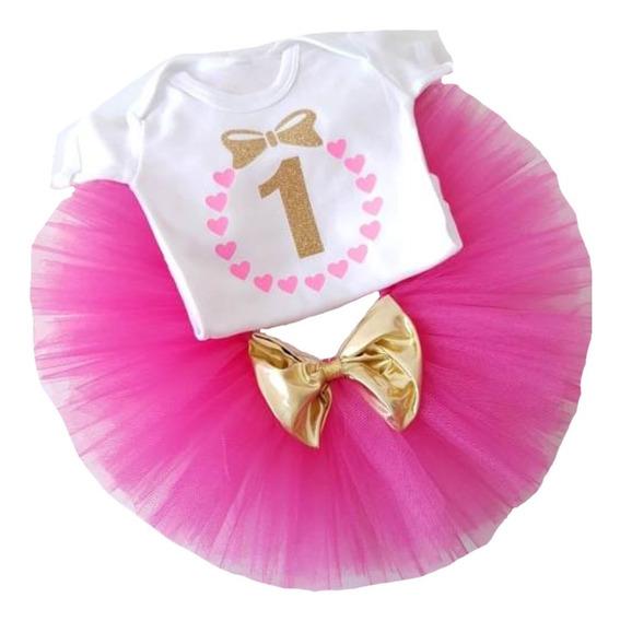 Conjunto Tutu Pañalero Cumpleaños 1 Año Envio Gratis