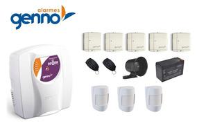 Kit Alarme Residencial Genno Ultra Slim 3 Comercial