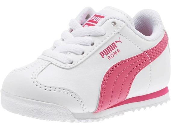 Zapatillas Puma Roma Bas Blancas Para Niña Tallas 22-27 Ndpi