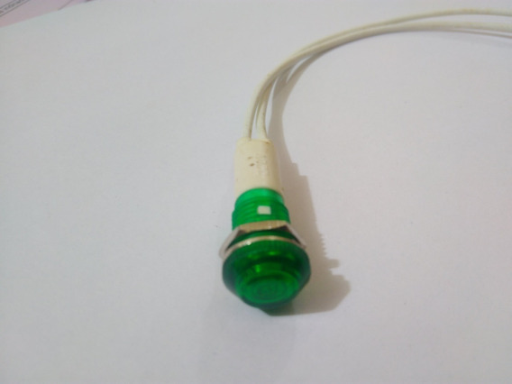 Lampada Sinaleiro Olho De Boi Verde 220 Vts 10 Unidades