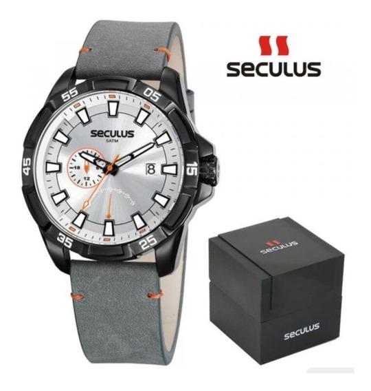Relógio Seculus Masculino Ref: 20829gpsvpc2 Multifunção Blac