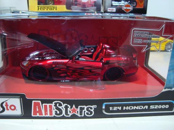 Miniatura Honda S2000 Conv 1/24 Maisto Allstars Caixa #9220