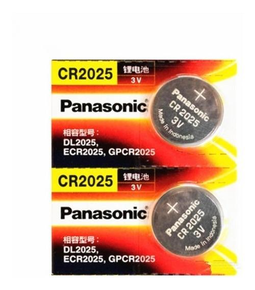 Kit 01 Cartela Panasonic 3v Cr2025 + 01 Cartela 2032 5 Bate