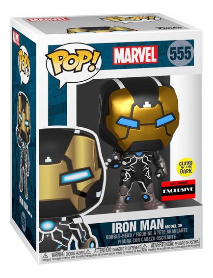 Funko Pop Iron Man 555 Glow Mark 39 Exclusivo Aaa Avengers