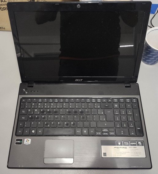 Notebook Acer 15 Aton Amd 64 V120 (no Estado S/ Fonte)