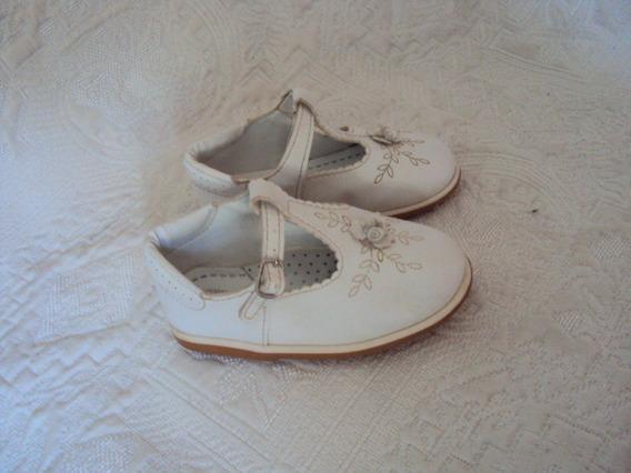 Sapato Infantil Menina Branco Sonho De Criança Tamanho 22