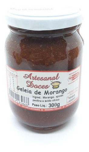 Imagem 1 de 10 de Geléia De Morango 300g