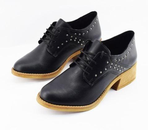 Zapato Savage Mia-95 Pu Negro
