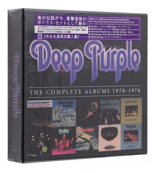 Cd - Deep Purple - Box 10 Cds - Studio Albums 1970 -1976