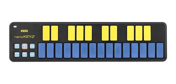 Novo Korg Nanokey 2 Blyl Mini Teclado Controlador Azul Mf