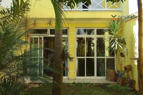 Sobrado Com 3 Dormitórios À Venda, 238 M² Por R$ 1.100.000 - Paraíso - Santo André/sp - So0287