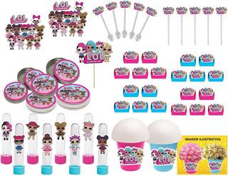 Kit Festa Lol Surprise (pink E Azul Claro) 99 Peças