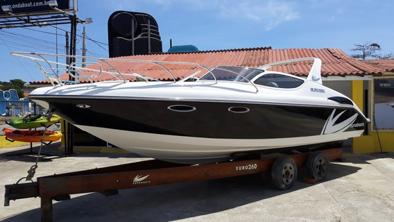 Lancha Euroboats 260 Mercruiser 250 Hp - Pronta Entrega Okm!