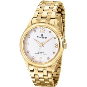 Relógio Champion Feminino Riviera Cn28991h Dourado