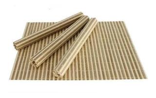 Individual De Bambú Para Mesa 30x45 Cms Set X4