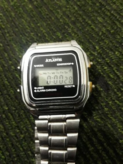 Relógio De Pulso Retrô Quartz Digital.
