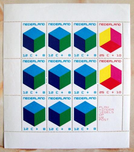 Holanda, Bloque Sc. B468a Ayuda Infantil 1970 Mint L6065