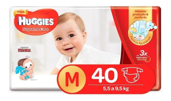 Fralda Huggies Supreme Care Mega Tamanhos P, M, G, Xg E Xxg