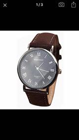 Relógio De Pulso Numerais Romanos Quartzo Analógico