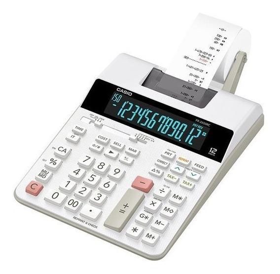 Calculadora Mesa Bobina Bivolt Casio Fr-2650rc 12 Dígitos
