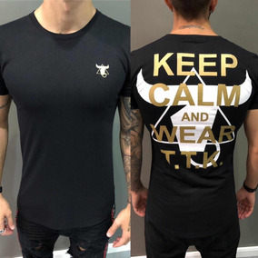 Camisa Camiseta Listrada Floral Original Masculina Slim Fit