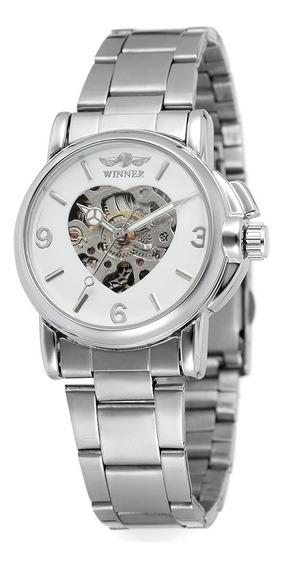 Relógio Winner,automático E A Corda,feminino,modelo 157w