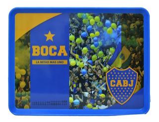 Bandeja Plástica Rectangular Futbol Boca Juniors 37x29cm