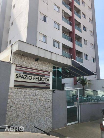 Apartamento No Spazio Felicitá, Completo Em Armário, Contendo 02 Dormitórios - Ap1522
