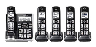 Telefono Inalambrico Panasonic 5 Auriculares Kx-tg785sk