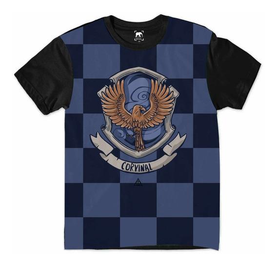 Camiseta Harry Potter Corvinal Hogwarts Relíquias Morte