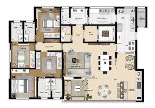 Apartamento Para Venda Em São Paulo, Vila Romana, 4 Dormitórios, 4 Suítes, 6 Banheiros, 4 Vagas - Cap1879_1-1182530
