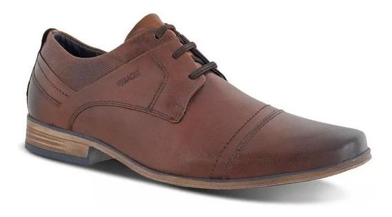 Sapato Masculino Ferracini Couro Bico Redondo 6065-575i