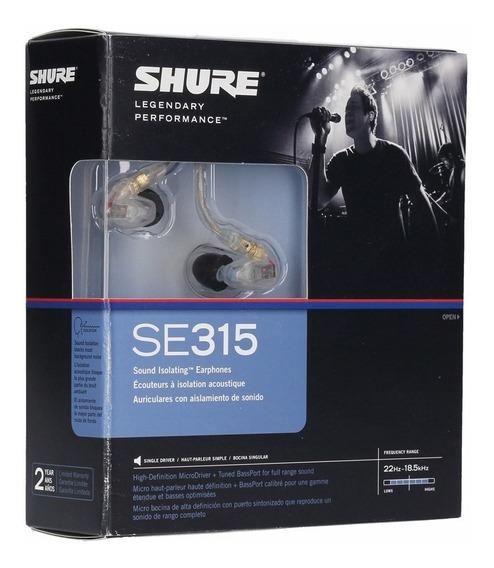 Fone De Ouvido Shure Se315 Monitor In Ear Preto (original)