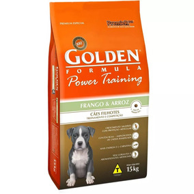 Ração Golden Power Training Frango E Arroz - Filhotes 15 Kg