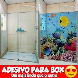 Adesivo 1.40x2.00mt +frete Para Box De Banheiro 100 Modelos