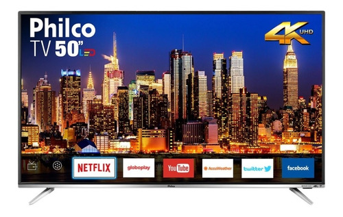 Smart Tv Led 4k 50 Philco Ptv50f60sn Preta Bivolt