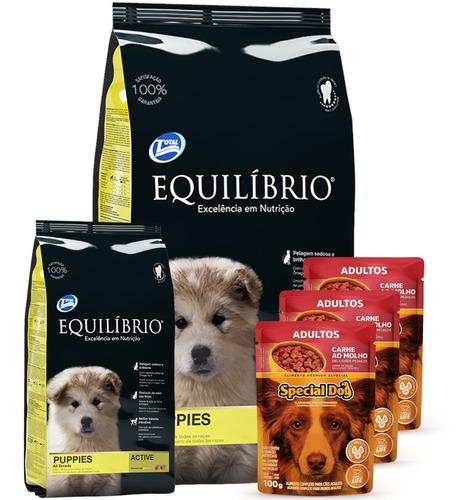 Imagen 1 de 5 de Equilibrio Cachorro 18 Kg + 3 Paté + Envío Gratis A Todo Uy!