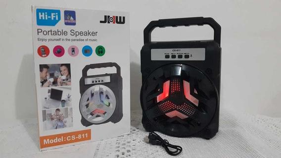 Caixa De Som C/ Bluetooth E Led Modelo Cs-811