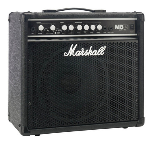 Combo Amplificador De Bajo Marshall Mb30 30 Watts Black Week