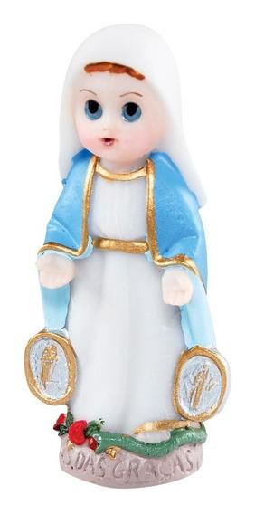 30 Imagem Nossa Senhora Da Medalha Infantil Em Resina 8cm