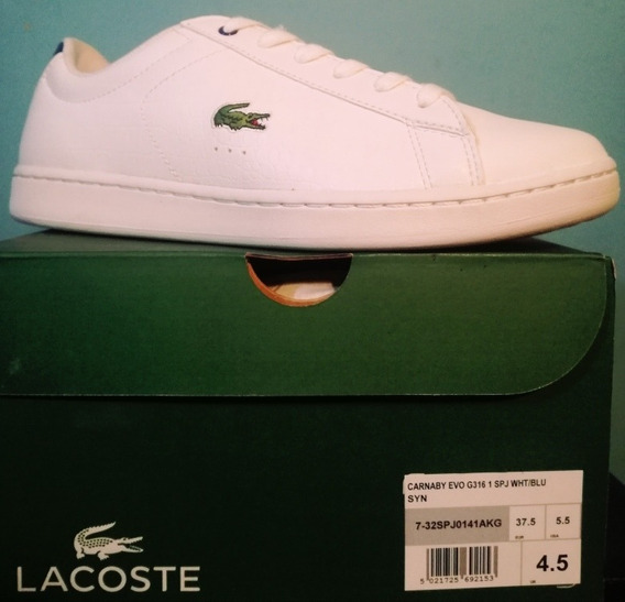 Remate Lacoste Tenis Casual Carnaby Evo 23 Mex C169